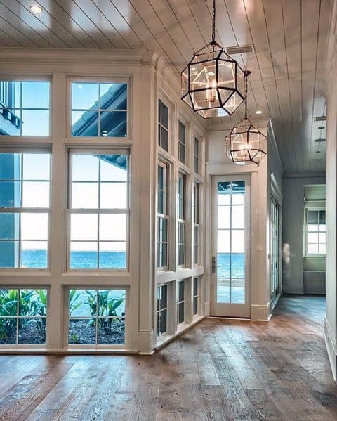 White Rustic Wood Ceiling Ideas