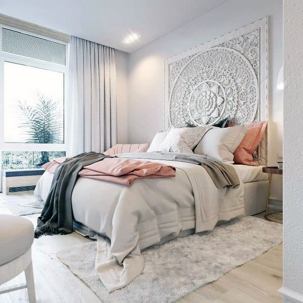 White Shabby Chic Headboard Ideas