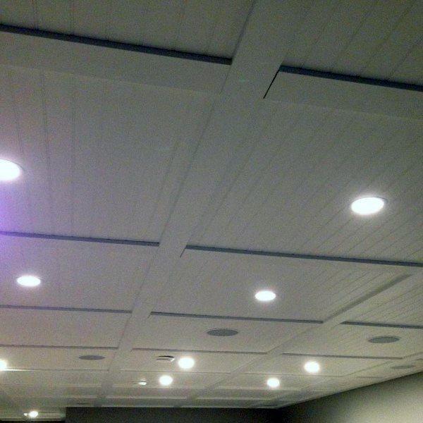 White Ship Lap Wood Basement Ceiling Ideas
