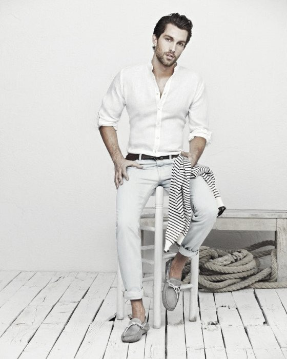 How to wear boat shoes for men 50 stylish outfit ideas for White shirt outfit mens