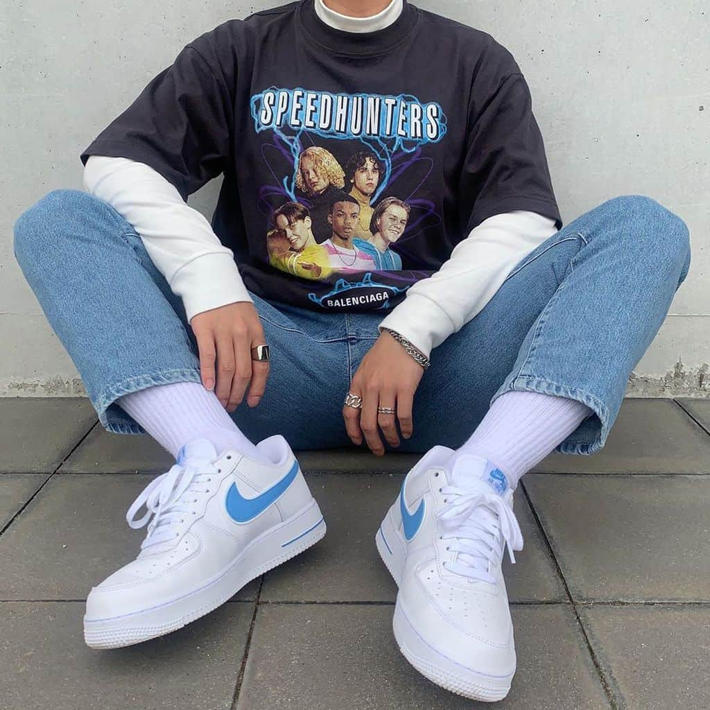 streetwear, white shoes