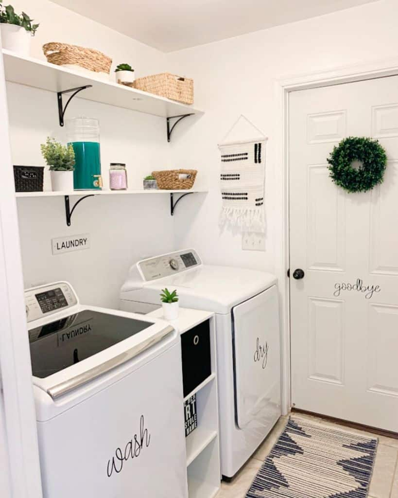 White Small Laundry Room Carliehetrick