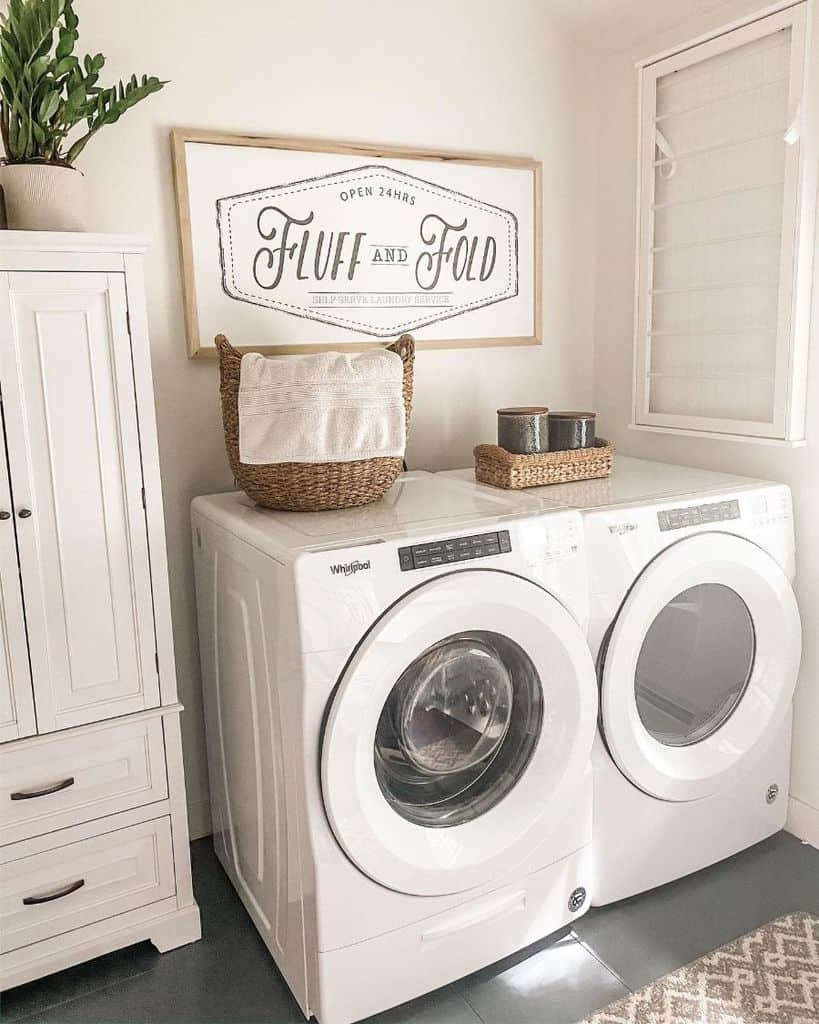 White Small Laundry Room Everydaygracedesigns