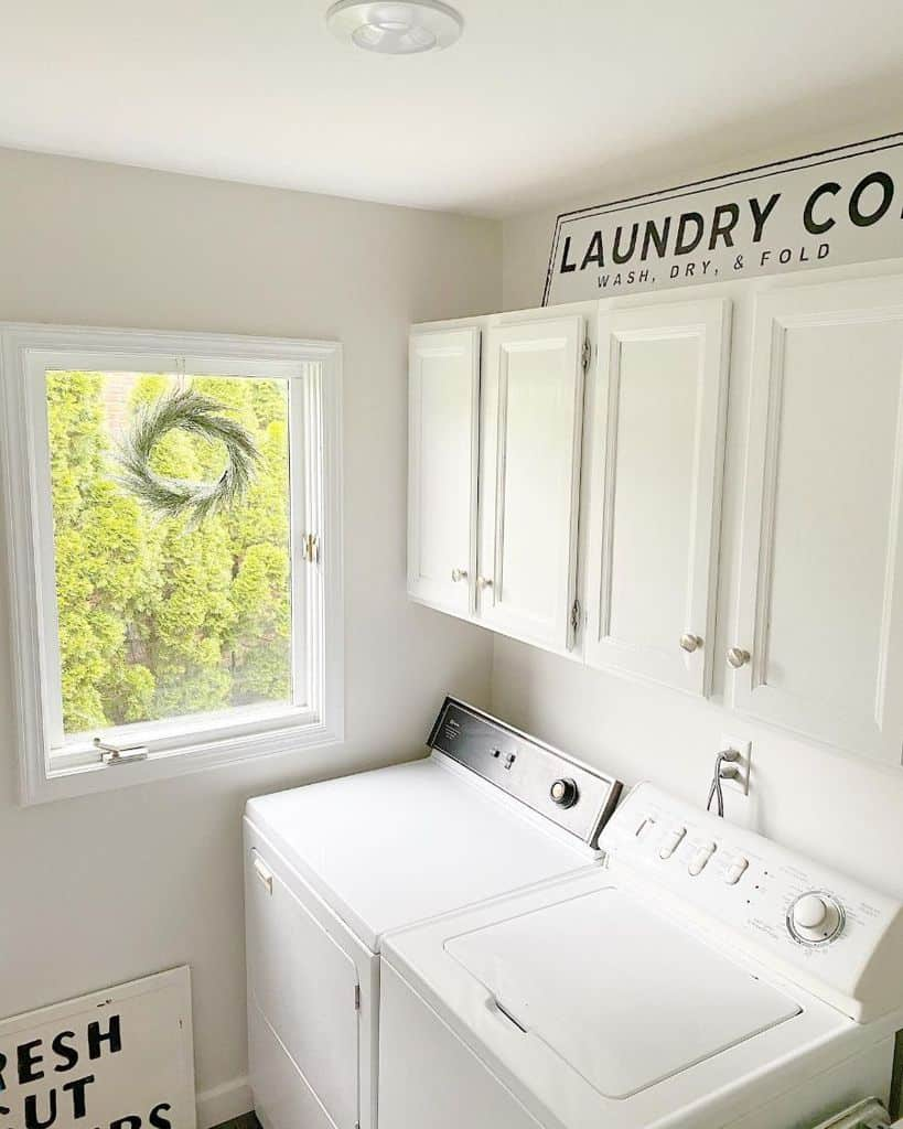 White Small Laundry Room Moderncountrychic