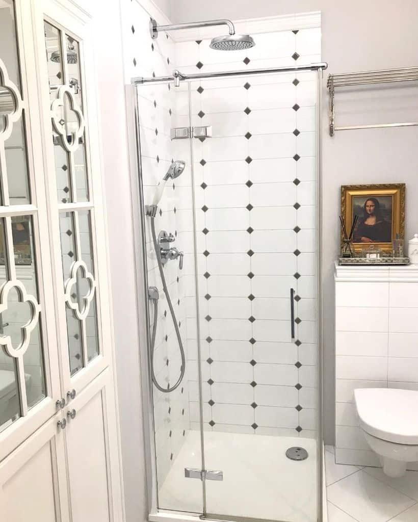 White Small Shower Ideas Justynasontadesign