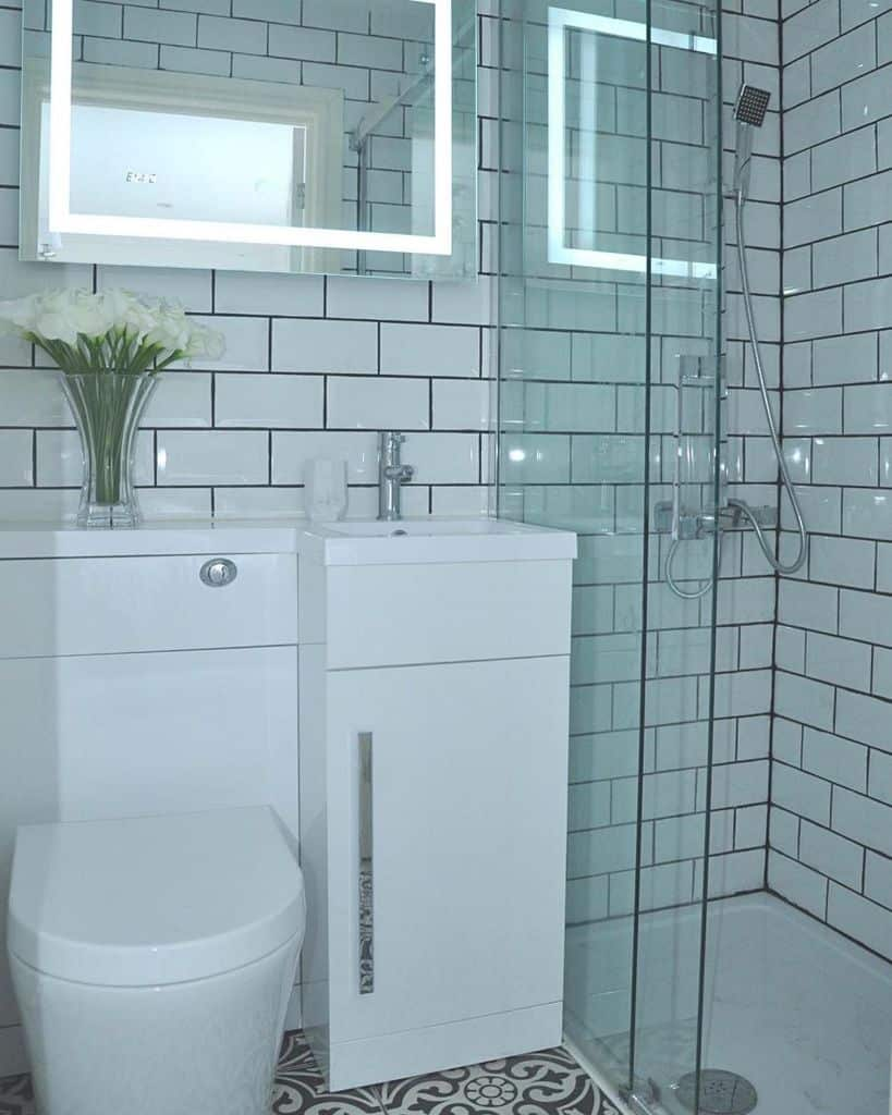 White Small Shower Ideas We Built Our Home