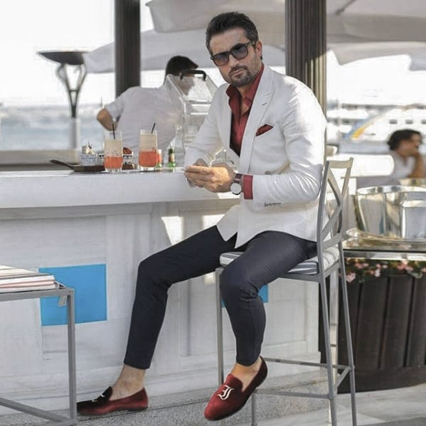White Sports Coat Masculine Professional Beard Styles For Guys