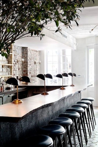 White Stone Bar Top Ideas