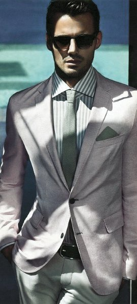 White Suit With Light Green Tie Trendy Outfits Mens Style Ideas