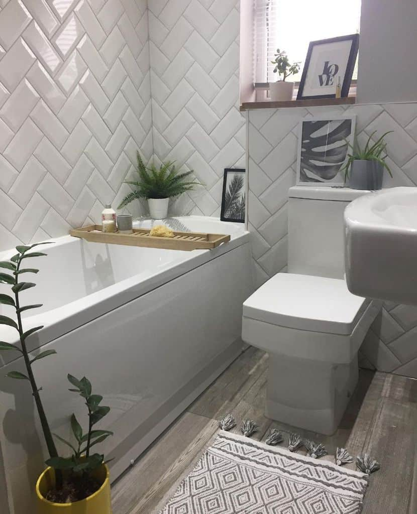 White Tiny Bathroom Ideas Home With The Oakleighs