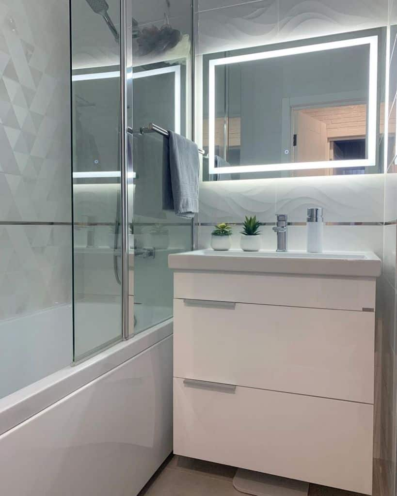 White Tiny Bathroom Ideas Volga Home76