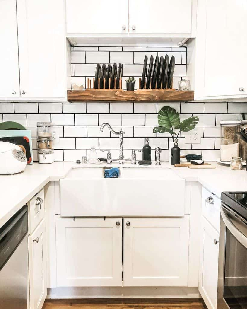 white tiny kitchen ideas in.a.little.grey.house
