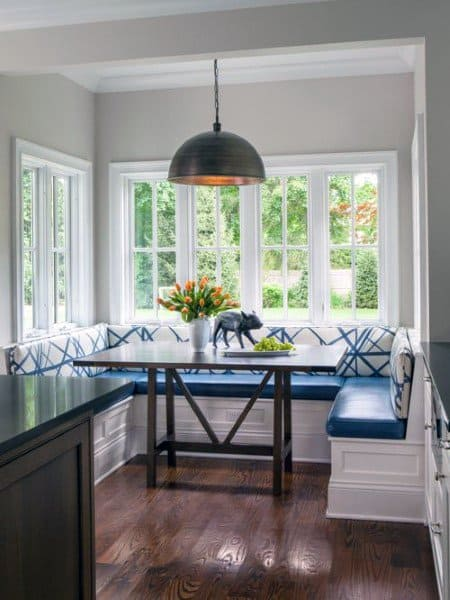 White Traditional Breakfast Nook