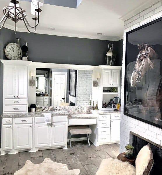 White Traditional Rustic Bathroom Ideas