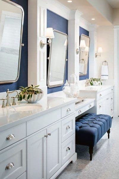 Top 50 Best Blue Bathroom Ideas Navy