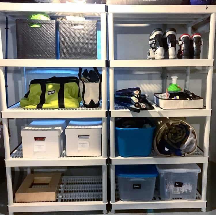White Vertical Racks Shelf Basement Storage