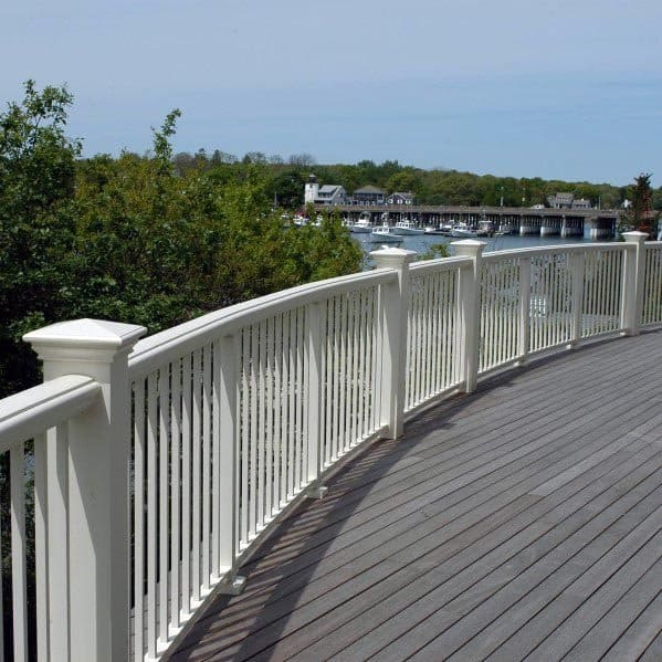 White Vinyl Deck Railing Design Ideas