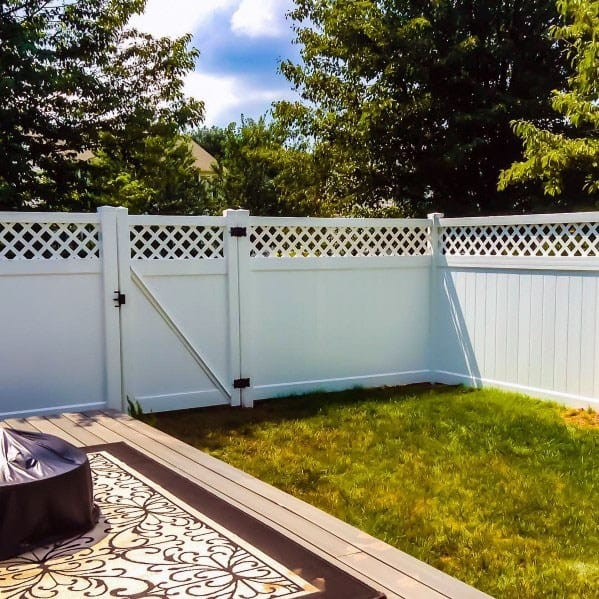 White Vinyl Dog Fence Ideas