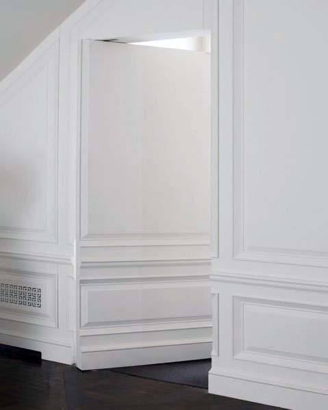 White Wall Panel Hidden Door Design Inspiration