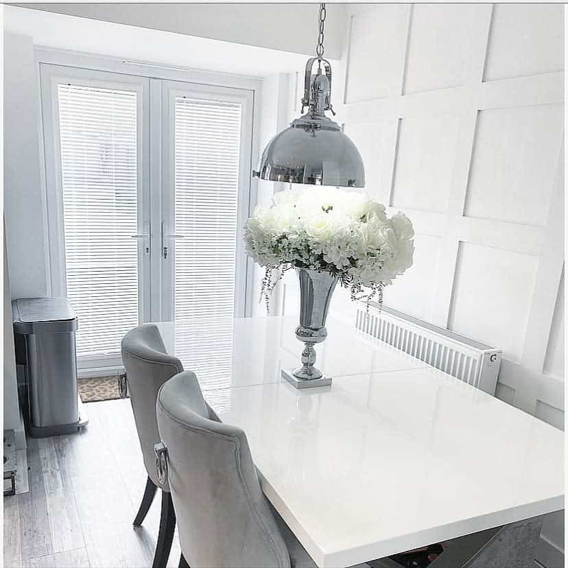 white wall paneling ideas silver.grey.home