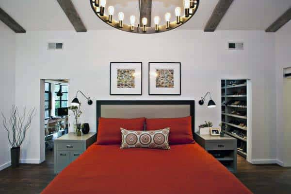 White Walls Red Bedroom Ideas