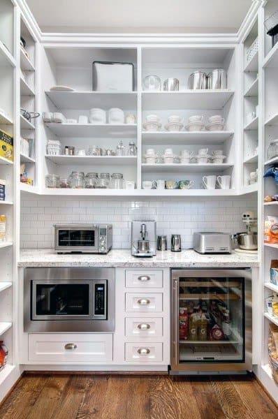 White Wet Bar Kitchen Pantry Ideas