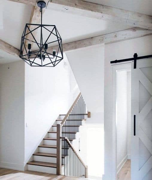 White With Black Hardware Accents Ideas For Barn Doors