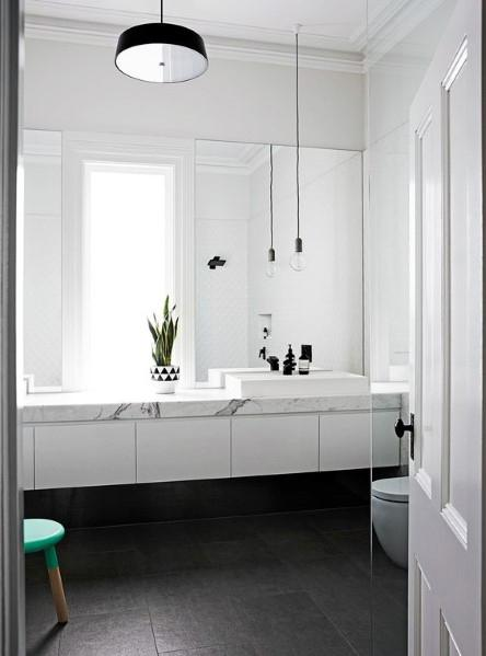 White With Marble Countertop Bathroom Vanity Ideas