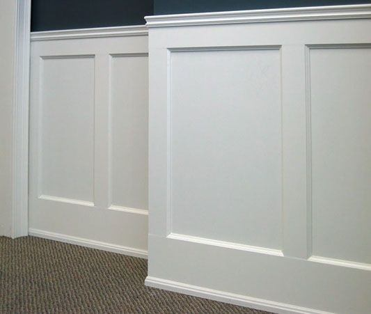 White With Navy Walls Wainscoting Ideas Bedroom