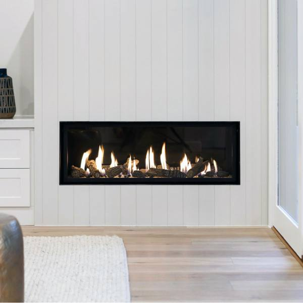 White Wood Wall Gas Fireplace Designs