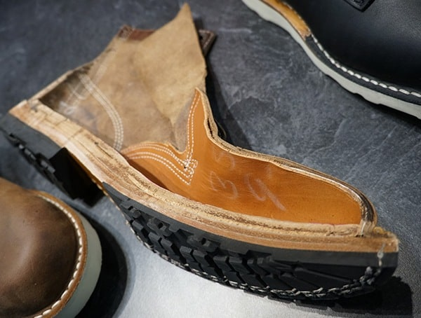 Whites Boots Shoe Cut In Half