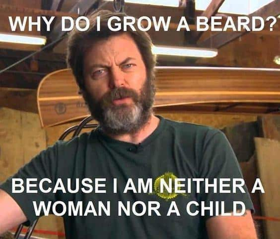 Why Do I Grow A Beard Beacuse I Am Neither A Woman Nor A Child Meme