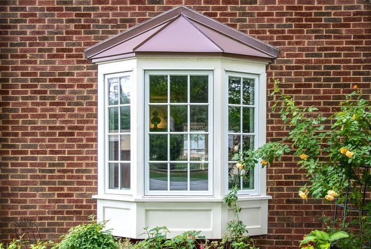 Wide Beautiful Exterior Window Trim Double And Bay Window