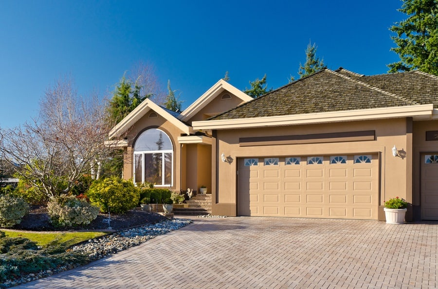 White Garage Door Ideas For White Siding Homes