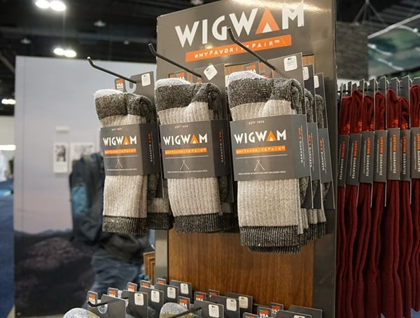 Wigwam Socks Display Outdoor Retailer Winter Market 2018