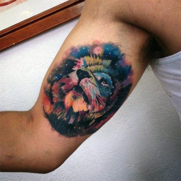 Wild Galaxy Watercolor Tattoo Innerarm Guys