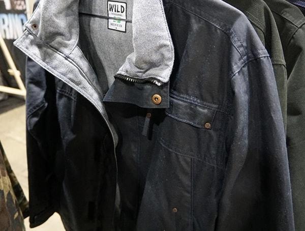 Wild Outdoor Apparel Mens Navy Waxed Jacket