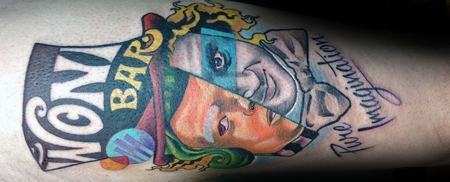 40 Willy Wonka Tattoo Designs For Men – Chocolate Factory Ink Ideas