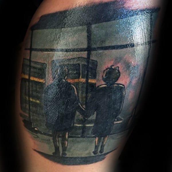 Winddow Scene Fight Club Mens Arm Tattoos