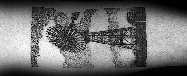 50 Windmill Tattoo Designs For Men – Rotational Ink Ideas