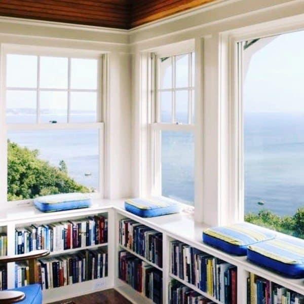 Window Bench Bookshelf Ideas
