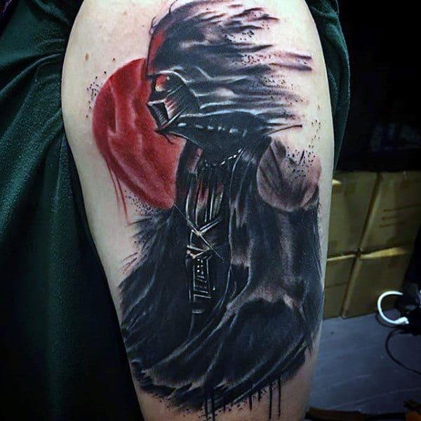 Windy Star War Creature Tattoo Male Arms