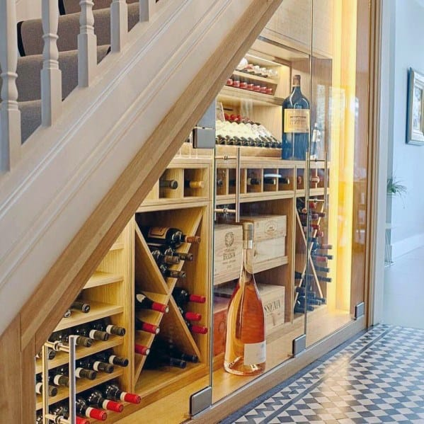 Wine Cellar Interior Ideas For Under Stairs