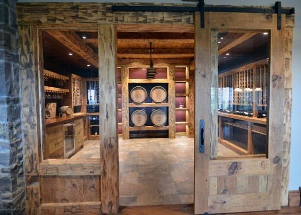 Wine Cellar Rustic Basement Ideas