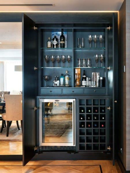 Mini Bar Ideas Cool Beverage Storage