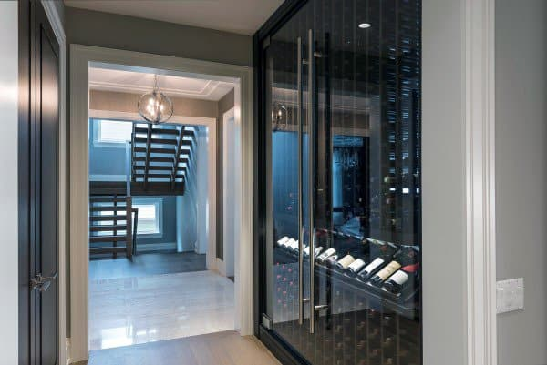Wine Storage Modern Glass Wine Cellar Ideas