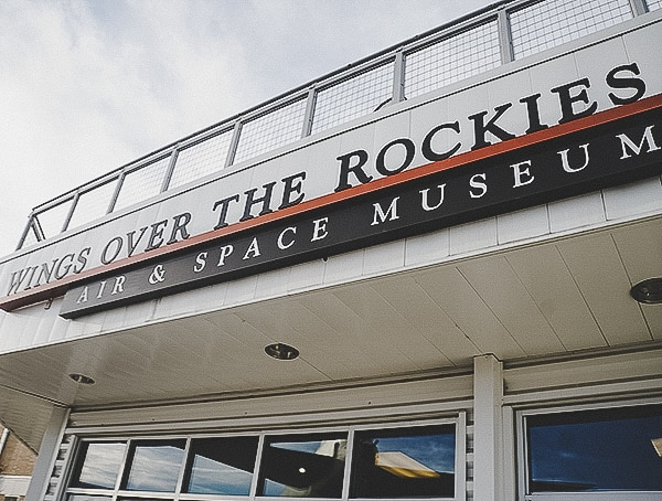 Wings Over The Rockies Museum Front Entrance Of Hanger