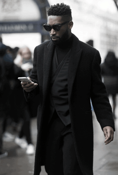 Winter All Black Outfits Mens