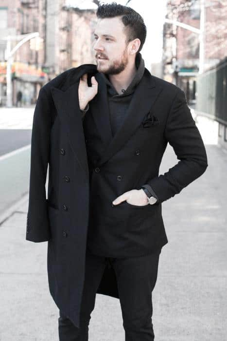 Winter Fashion Cool All Black Outfits For Men