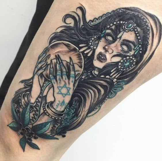 Witch Gypsy Tattoo